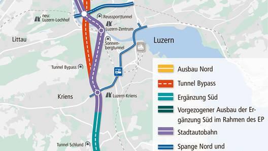 Neue Strassen rund um Luzern