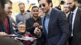 """Aufregung auf dem Grünen Teppich: US-Schauspieler Jake Gyllenhaal hat am Dienstag das 13. Zurich Film Festival besucht und seinen neuen Film """"Stronger"""" vorgestellt."""