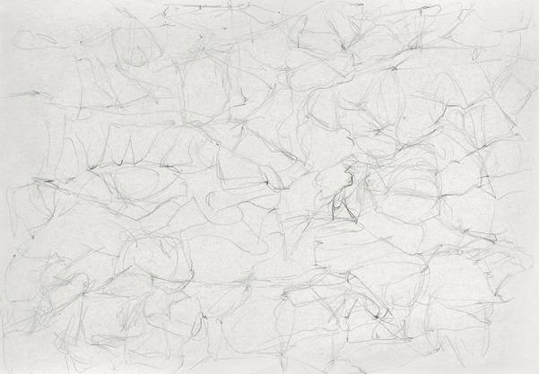Geröll I, 2016, Bleistift auf Papier, 20,5 x 29,3 cm