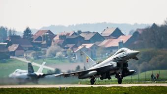 Vorteil Europa: Eurofighter-Jets letztes Jahr bei den Testflügen in Payerne VD.