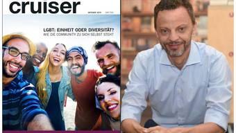 Zürich-Ständeratskandidat Hans-Ueli Vogt lies ein Wahlplakat im Gay Magazine «Cruiser» platzieren.