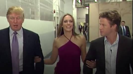 Donald Trump, Arianne Zucker und Billy Bush.