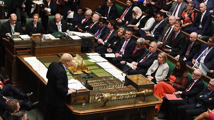 Das britische Unterhaus hat drei Wochen vor dem geplanten EU-Austritt abschliessend für das Brexit-Gesetz von Premierminister Boris Johnson gestimmt. (Bild vom 8. Januar)