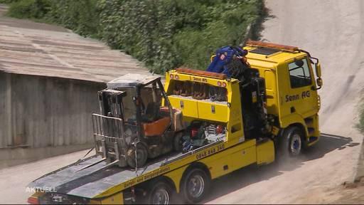 Person stirbt bei Unfall in Kiesgrube in Gebenstorf
