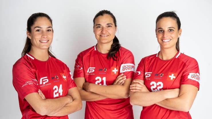 Flurina Marti, Corin Rüttimann und Seraina Ulber wollen an der Heim-WM in Neuenburg den Titel holen.