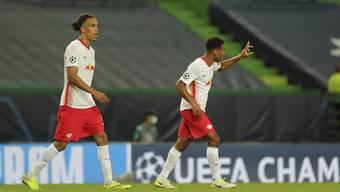 Grosser Tag für den jungen Amerikaner Tyler Adams (rechts): Der 21-Jährige Joker schiesst RB Leipzig zum 2:1-Sieg gegen Atlético Madrid.