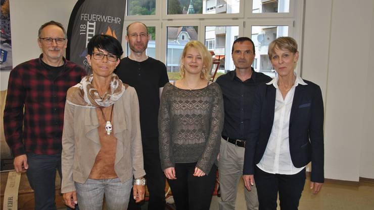 Der Vorstand der MGG: (von links) Stefan Haudenschild, Monika Bruder, Aron Müller, Nadine Hunziker (neu) , Michael Siegrist und Susanne Schaller.