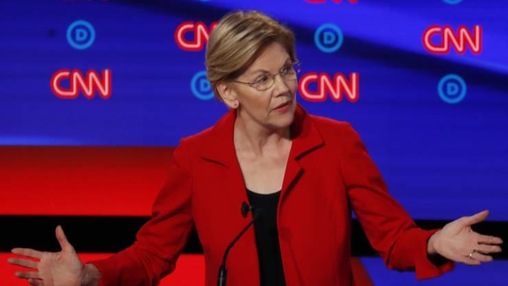 """""""Ich weiss, wie man kämpft"""": US-Senatorin und Präsidentschaftsanwärterin Elizabeth Warren aus Massachusetts."""