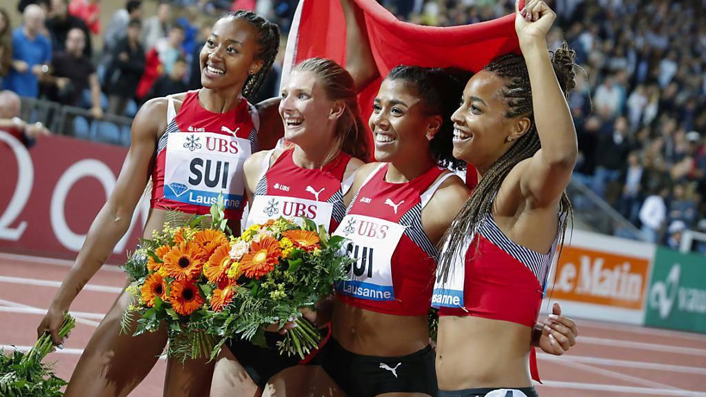 Nominierte Teams: Die Schweizer 4x100-m-Staffel der Frauen ist ein echtes Erfolgsprojekt. 2019 stiessen Sarah Atcho, Ajla Del Ponte, Mujinga Kambundji und Salomé Kora mit WM-Rang 4 und neuem Schweizer Rekord in neue Sphären vor