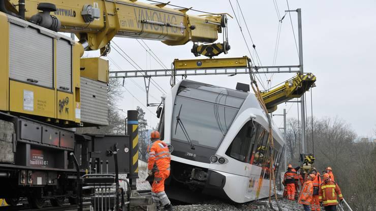 Die Thurbo Bahn wird zurück auf die Gleise gestellt.
