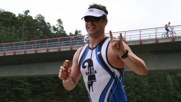 Daniel Montag 2009 in Roth bei seinem allerersten Ironman. zvg