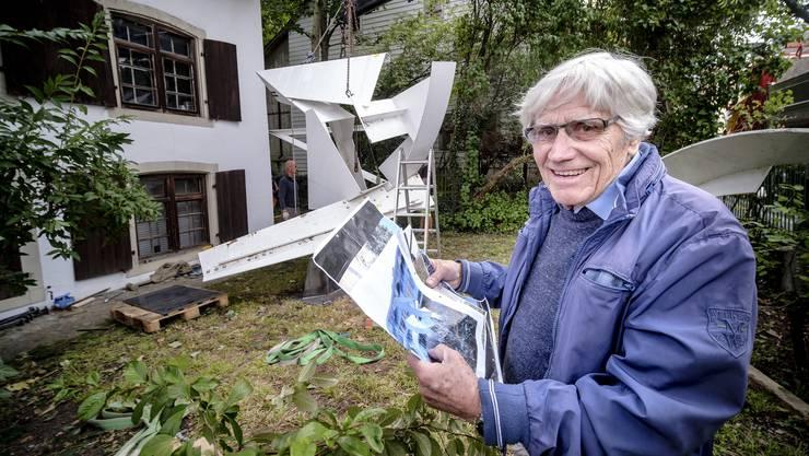 Robert Häfelfinger hat die «Fanfare» nun in seinem Vorgarten.