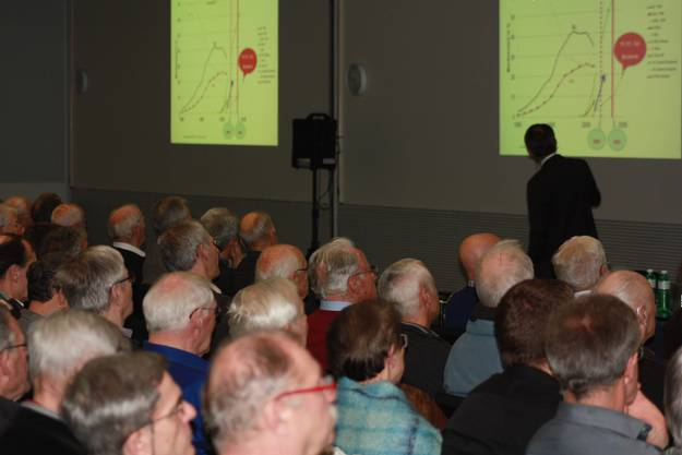 Über 220 Zuschauer verfolgten die spannenden Ausführungen der Referenten zum Thema Solarenergie - individuell genutzt
