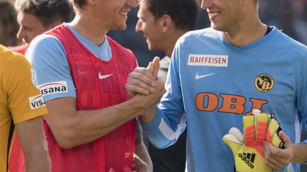 Rivalen und Freunde: die YB-Torhüter Marco Wölfli und David von Ballmoos