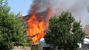 Brand in Einfamilienhaus in Zofingen