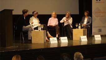 Das Gespräch fand am Welthospiztag in Brugg statt. Bild: dmi