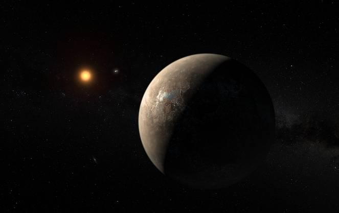Der Planet Proxima von weitem (Visualisierung)