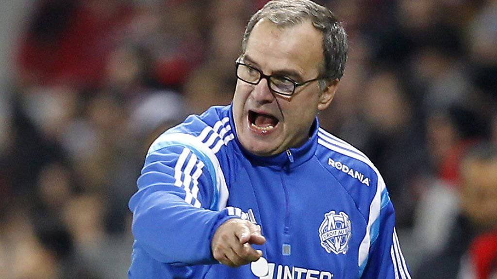 Lille-Trainer Marcelo Bielsa konnte gegen Strassburg früh keine Auswechslungen mehr machen