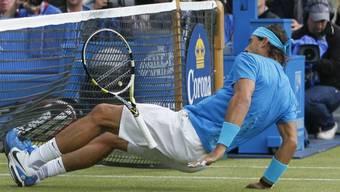 Rafael Nadal leistete sich in London einen Ausrutscher