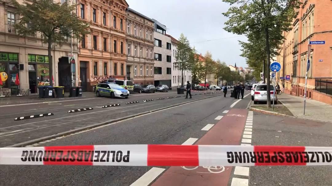 Zwei Tote bei Schiesserei in Halle