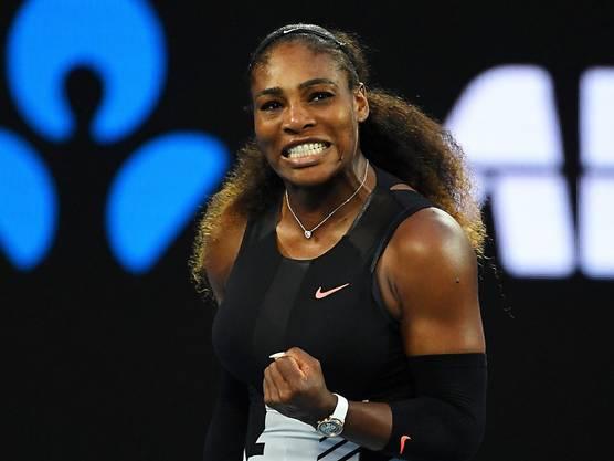 Serena Williams bei ihrem Triumph am Australian Open.