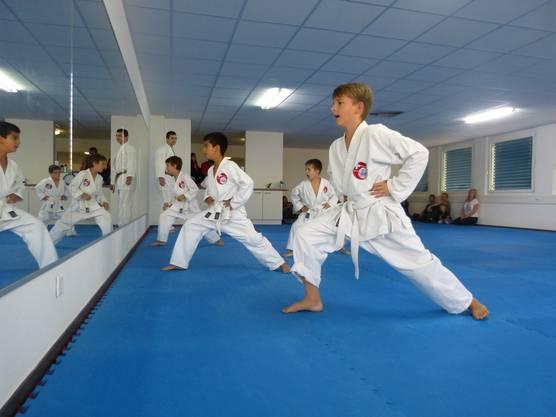 Die Karatekas waren voller Leidenschaften und mit starkem Einsatz bei den Prüfungen dabei.