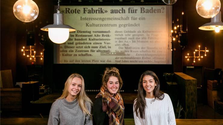 Julia Hunkeler, Norma De Min und Selina Gruber (v.l.) setzten sich mit dem Verein «Ikuzeba» auseinander. Entstanden ist daraus ein Dokumentarfilm.