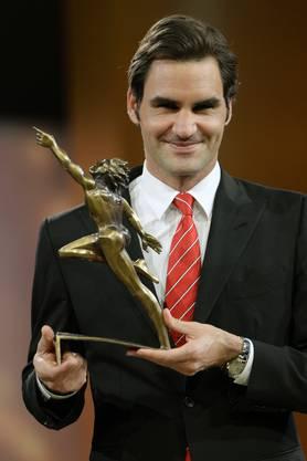 Roger Federer gewann die Wahl bereits zum sechsten Mal.