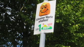 Die Wahlkampfplakate der SVP Bezirk Bremgarten.