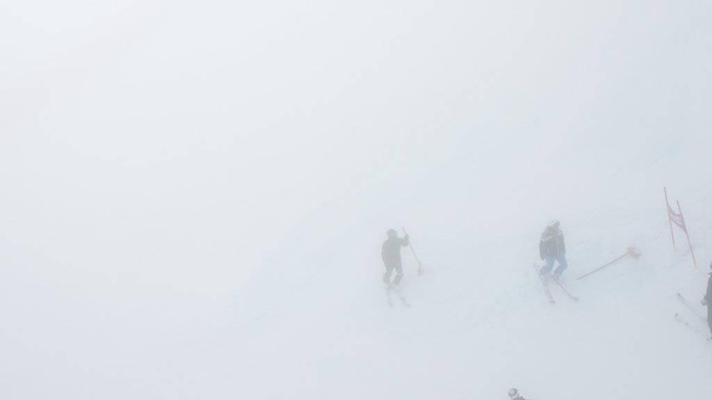 Der Nebel liess den Super-G für die Kombination nicht zu