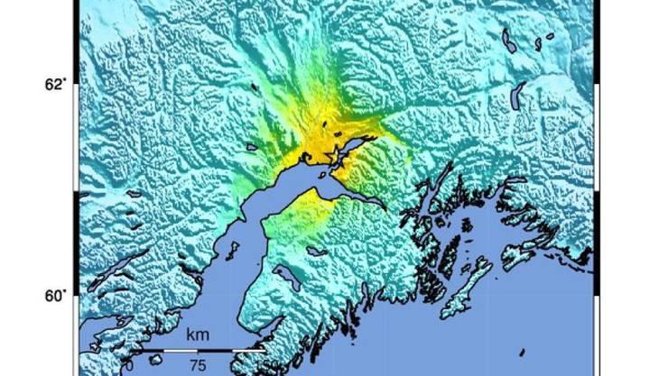 Ein starkes Erdbeben in Alaska hat in der Grossstadt Anchorage Gebäude erzittern lassen.
