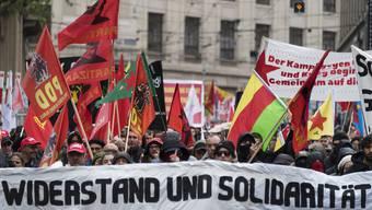 Am 1. Mai wird vielerorts wie hier in Basel auch heute noch demonstriert.
