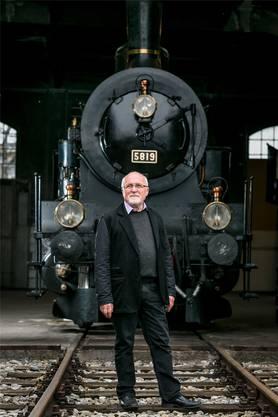 Der Bahnpark Brugg wurde mit dem Heimatschutzpreis ausgezeichnet. Im Bild Präsident Gregor Tomasi.
