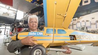Vorläufer der Drohne: Der Luzerner Fotograf Niklaus Wächter hat Luftaufnahmen mit Modellflugzeugen gemacht, welche er mit Kameras ausgerüstet hat.