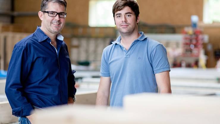 Gemeinsam führen Stephan (l.) und Martin Zaugg den Familienbetrieb in dritter Generation.Thomas Ulrich