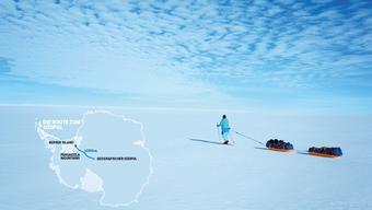 Zweimal hat Ursula Giger auf Ski Grönland durchquert (Bild). Jetzt bereitet sie sich mit ihrem Team auf eine neue Expedition in die Kälte vor: Im Herbst brechen die vier Frauen zum Südpol auf.