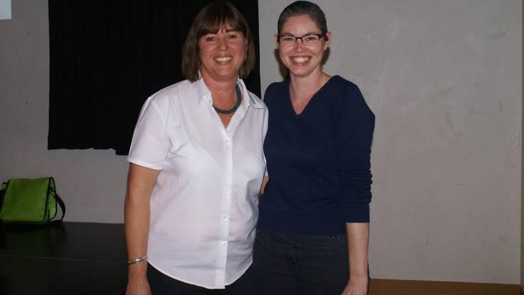 Vera Barritt (links) dankte Daniela Bilinski.