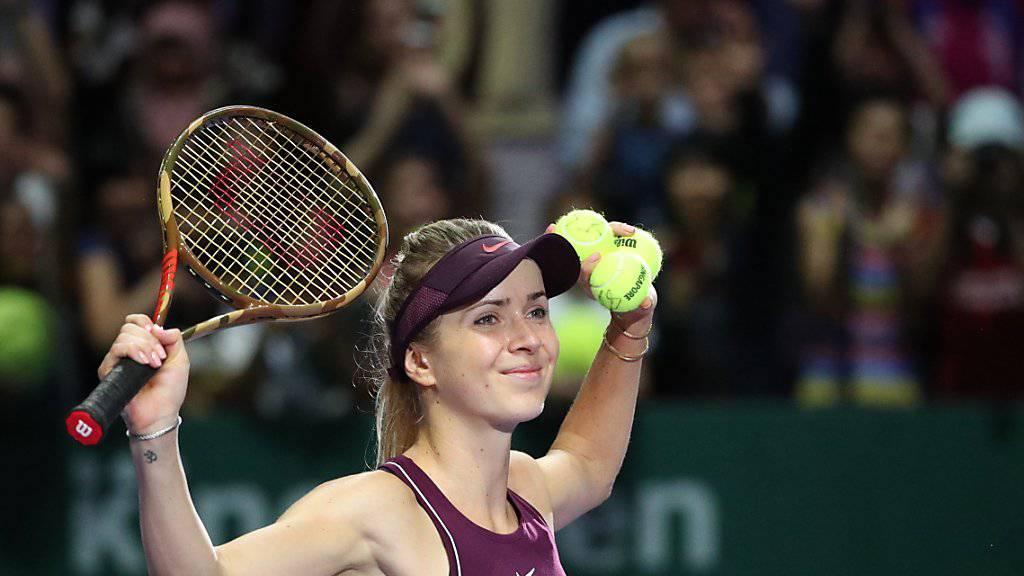 Jelina Switolina bezwang im Halbfinal der WTA Finals in Singapur die Niederländerin Kiki Bertens in drei Sätzen