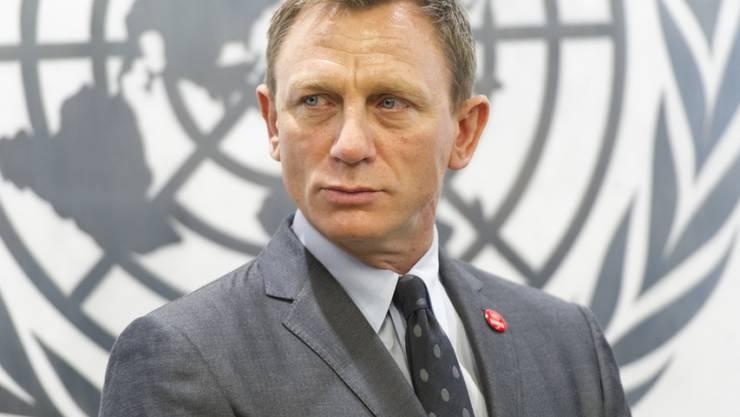 """Sony hat Daniel Craig verboten, sich weiterhin harsch über """"Spectre"""" zu äussern (Mark Garten/United Nations via AP)."""