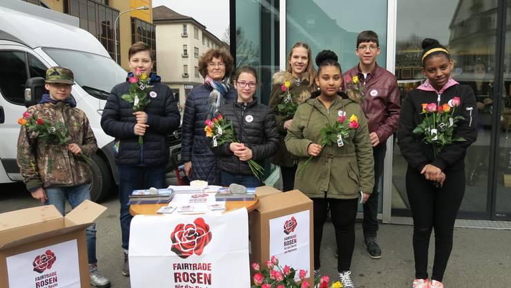 Die Rosen wurden in diesem Jahr von COOP gesponsert und tragen das Max-Havelaar-Gütesiegel.