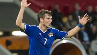 Marcel Büchel - hier im Länderspiel gegen Schweden - erzielte für Empoli seinen ersten Treffer