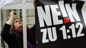 Die SVP Aargau sprach sich eindeutig gegen die 1:12-Initiative aus.