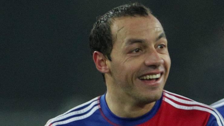 FCB-Spieler Marcelo Diaz hat im Moment gut lachen.Keystone