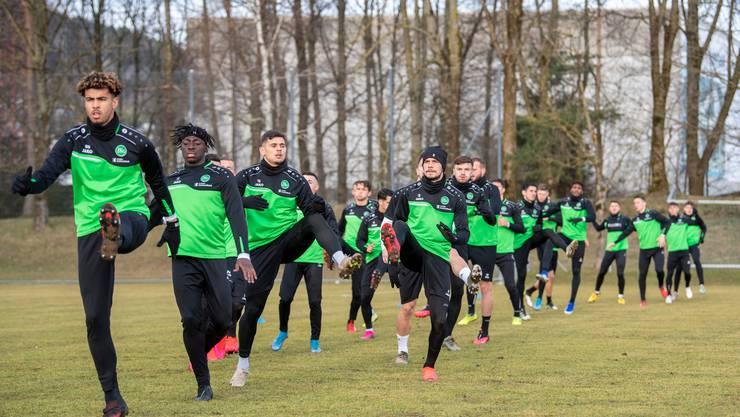 Nun gibt es auch keine Trainings mehr für die Fussballer – wie hier von Leader St. Gallen.
