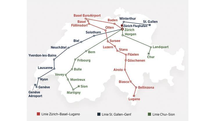 Das sind die drei Fernbus-Strecken quer durch die Schweiz