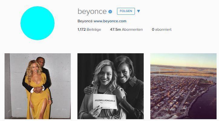 Beyoncé posiert mit Michel Obama auf Instagram - ihren 47,5 Millionen Followern gefällts.