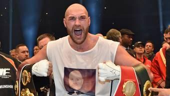 Tyson Fury im November 2015 nach seinem gewonnen WM-Kampf gegen Wladimir Klitschko