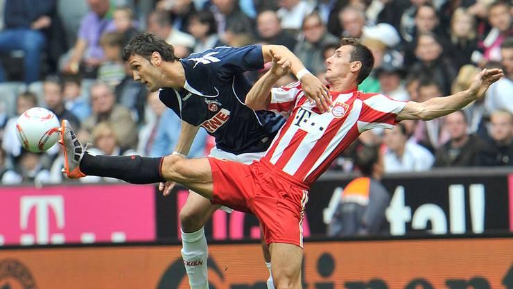 In Köln erlebte Kevin Pezzoni (hier gegen Miroslav Klose) alle Höhen und Tiefen – bis hin zum Absturz.