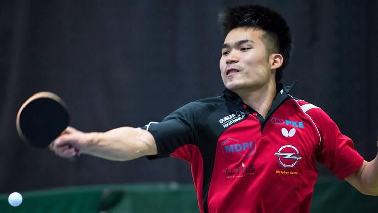 Der Chinese konnte, trotz Rückenverletzung, bis jetzt 23 Spiele gewinnen und hat somit grossen Anteil an der Halbfinal Qualifikation von Muttenz