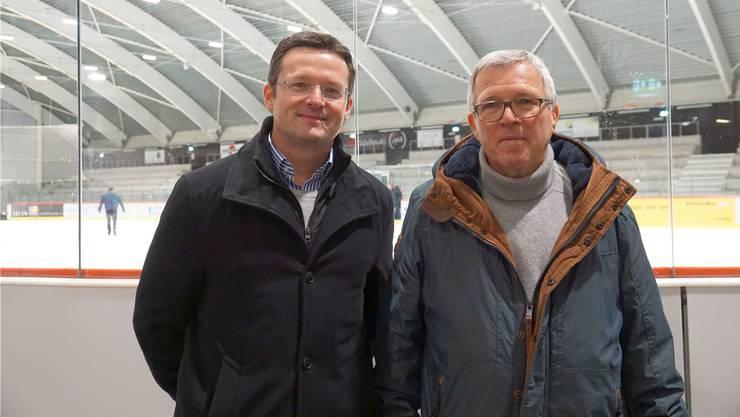 Heinz Zaugg (rechts) und sein Nachfolger im Präsidentenamt, Ralph Werder.Sih